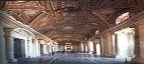 Restauro dell'Atrio della Basilica Vaticana.