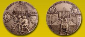 Medaglia Celebrativa dei 90 anni dei Cavalieri di Colombo a Roma - 2010.