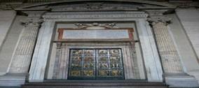 Restauro della Porta Santa e il rifacimento della Navicella.