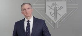 Messaggio del Cavaliere Supremo Patrick Kelly durante il suo primo giorno di mandato
